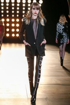 Saint Laurent - Hedi Slimane really knows what he's doing with Saint Laurent. The clothes will definitely be coveted this Fall. the styleweaver.com Fall 2015 Ready-to-Wear