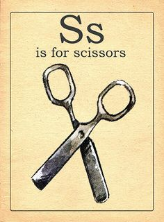 Flash Cards: S is for Scissors