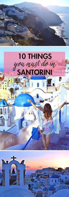 10 Things You Must Do in Santorini, Greece | Greek Island Travel Tips  #TravelTips