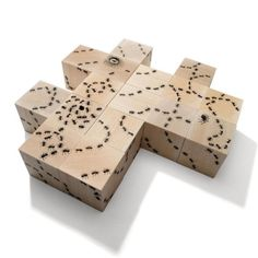 Uncle Goose American-made baby blocks. Trails of ants connect on all six sides of these sixteen blocks, with ant hills, a queen with her eggs, and a spider. Six Sides, Stacking Toys, Creative Play, Wooden Blocks, Wooden Cubes, Wood Toys, Building Toys, In Kindergarten, Kids Toys