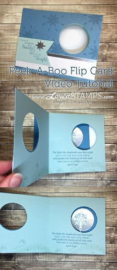 How to make your own Peek-A-Boo Flip Card with Star of Light Slider Cards, Flip Cards, Fun Fold Cards, Pop Up Cards, Folded Cards, How To Make Cards, Card Making Tips, Card Making Tutorials, Card Making Techniques