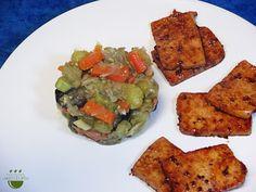 Nituke de verdures amb tofu // Nituke de verduras con tofu