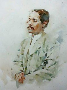 King Rama5 , Watercolor by Bhira Phokthavi