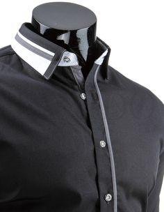 Pánská stylová košile - James, černá Polo Shirt, Polo Ralph Lauren, Mens Tops, Shirts, Fashion, Moda, Polo, Fashion Styles, Shirt