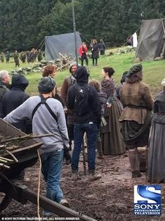 Pic of Sam and Cait Filming S2 of Outlander