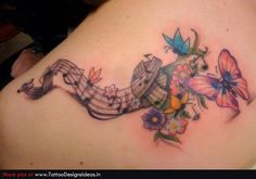 music and butterfly tattoo - Google Search