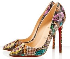 Louboutin Love, rainbow snake print, a color found in nature by kathryn