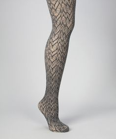 Take a look at this Black & Gray Glacier Two-Tone Tights - Women by MeMoi on #zulily today!