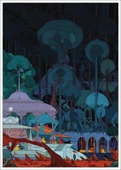 "VCVM105: ""Deep Forest Pavilion"" Art Print by Kilian Eng"