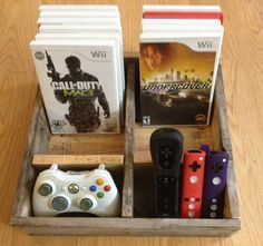 Video Game Organizer for wii or X-box. $19.99, via Etsy.