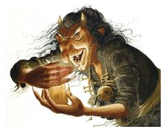 Gryla- Icelandic legend: a giantess or ogress that comes out from her mountainous abode at christmas time to collect naughty children to make a stew.