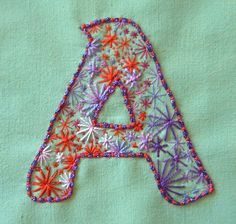 Hand embroidered Letter - #MyFavouriteMakes