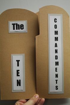 Printable Ten Commandments Tablets Blank From
