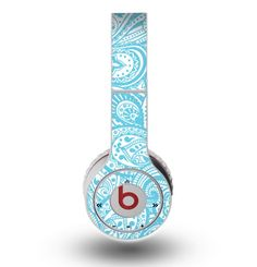 The Light Blue Paisley Floral Pattern V3 Skin for the Original Beats by Dre Wireless Headphones Cute Headphones, Wireless Headphones, Beats Headphones, Beats Solo, Beats Studio, Beats By Dre, Macbook Case, Phone Accessories, Light Blue