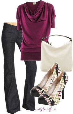 Burgundy, created by styleofe on Polyvore