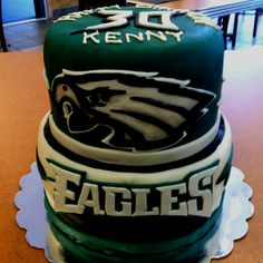 Philadelphia Eagles Birthday Cake