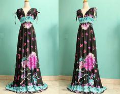 Long Maxi Dress/ Black Dress  Two Way Wear Evening by myuniverse, $45.00