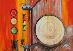 . Acrylic Artwork, Traffic Light, Drawings, Painting, Painting Art, Sketch, Paintings, Paint, Draw