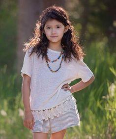 Ivory Rhiannon Linen Tee - Toddler & Girls #zulily #zulilyfinds