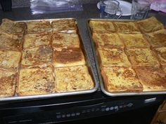 French toast. Make, store in the freezer. pop in the toaster when ready to eat.  Perfect quick breakfast!