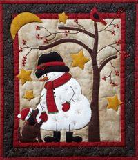 Frosty & Friend Quilt Kit Rachels of Greenfield