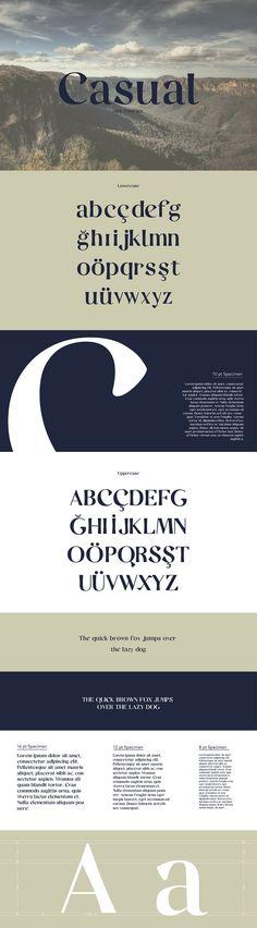 Casual // Free Typeface par Pelin Maravent | 20