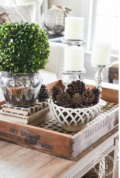 Planning For Home Decor Accessories - Diy Home decor Coffee Table Vignettes, Coffee Table Centerpieces, Coffee Table Styling, Coffee Table Tray, Decorating Coffee Tables, Centerpiece Ideas, Tray Styling, Centrepieces, Styling Tips