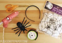 It's that time of the year again! I love Halloween crafts especially when they're cheap. I got everything I needed to make this headband...
