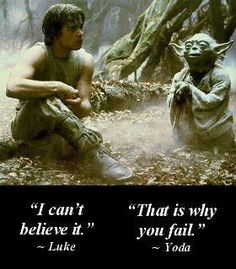Great Yoda quote!