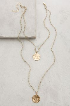 Layered gold necklace from Anthropologie