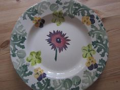 Emma Bridgewater SAMPLE Sarah Raven's Dahlia 8.5 inch Plate for Collectors Day