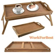 Folding Breakfast Tray Legs Serving Lap Over Bed Laptop Side Table Stand Wooden in Home, Furniture & DIY, Cookware, Dining & Bar, Tableware, Serving & Linen | eBay
