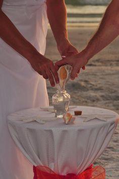 Unity sand, beach wedding