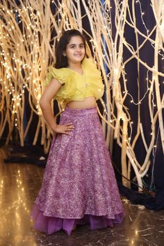 Kids Lehanga Design, Lehanga For Kids, Kids Frocks Design, Baby Girl Party Dresses, Dresses Kids Girl, Party Wear Dresses, Kids Outfits, Kids Indian Wear, Kids Ethnic Wear
