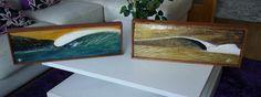Acrílico s/madera tallada de acacia.