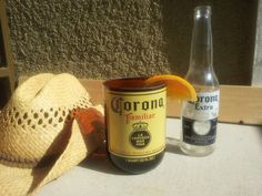 XL Repurposed Tumbler made from Corona Familiar Bottle