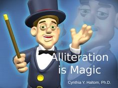 A fully animated powerpoint designed to teach alliterations.