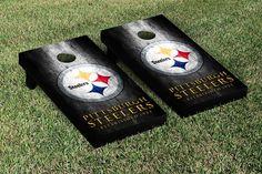 Pittsburgh Steelers NFL Football Cornhole Game Set Metal Version - VictoryTailGate.com - $200