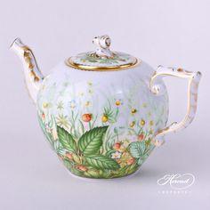 Tea PotwithTwisted Knob– Strawberry | Herend