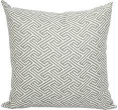 Geo Maze, Ash accent pillow