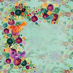 Free Image on Pixabay - Background, Floral, Green, Flower Vintage Designs, Artist, Painting, Flower Watercolor, Floral Watercolor, Solid Colors, Flowers, Artists, Painting Art