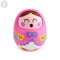 Huluwa Baby Toys Roly-Poly Tumbler Toy with Sound Big Size Nodding Doll Novelty Educational Toys (Pink) Toddler Toys, Baby Toys, Kids Toys, Toys For Little Kids, Toys For Girls, Bell Sound, 3 Month Old Baby, Gift Finder, Pull Toy
