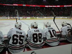 Andrew Shaw, Patrick Kane, & Patrick Sharp