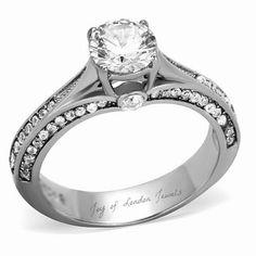 1CT Round Cut  Solitaire 14K White Gold Engagement Ring $72. Yes,  $72.