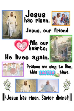 Jesus Has Risen p 70 lds primary Easter song from the Children's Songbook. – Create Something On Easter Lds Songs, Lds Primary Songs, Lds Music, Primary Singing Time, Primary Music, Jesus Has Risen, Easter Songs, Visiting Teaching Handouts, Primary Chorister