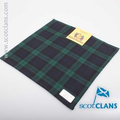 Campbell Modern Tartan Pocket Square. Free worldwide shipping available