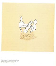 Artista: Leonilson  Título: Jogos perigosos   Año: 1989  Técnica: acrílico sobre tela  Dimensiones: 60cm x 50cm