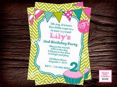 LILY CUPCAKE INVITATION  Cupcake Birthday by BlissfulBethDesigns