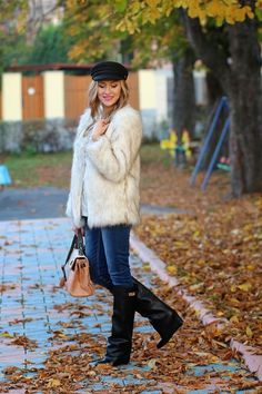 18 Cool Ways How To Wear Fur Jackets