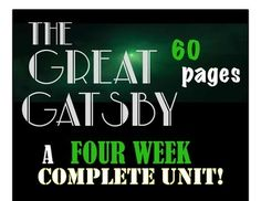 GREAT GATSBY- A COMPLETE UNIT for a GREAT DEAL!!!#TheGreatGatsby #FScottFitzgerald #NovelStudies #AmericanLiteratureIn need of supplementary materials for your Great Gatsby Unit? This COMPLETE UNIT will aide you in providing rigorous materials for your students that will engage them in understanding the novel.